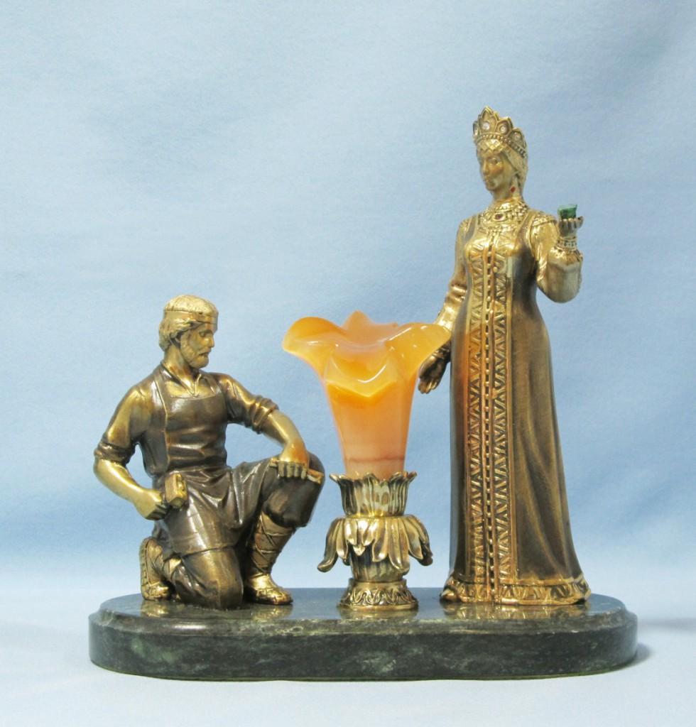 Бронзовая статуэтка Хозяйка Медной горы и Данила Мастер