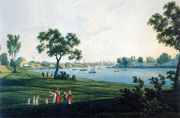 Вид петербургских Островов, художник Васильев, 1820 г.