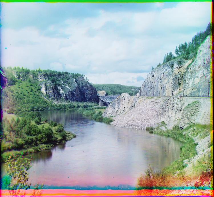 Прокудин-Горский Мост на Юрюзани 1910