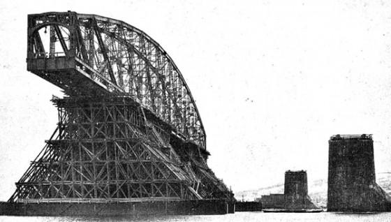 Строительство Императорского моста в Симбирске