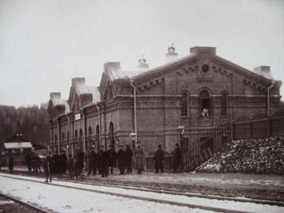 Пассажирское здание на станции Вязовая