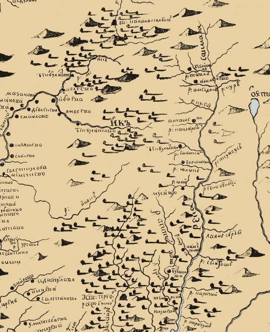 Часть карты Рычкова
