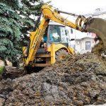 Ремонтные работы возле ДК г. Юрюзань