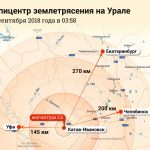 Карта Эпицентр землетрясения на Урале